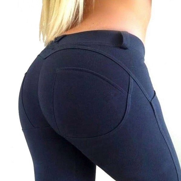 NORMOV Fashion Low Waist Leggings Women Sexy Hip Push Up - Fresh Smiles .Co
