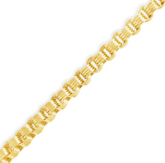 10K YELLOW GOLD 4.5MM BYZANTINE TURKISH LINK 22 NECKLACE