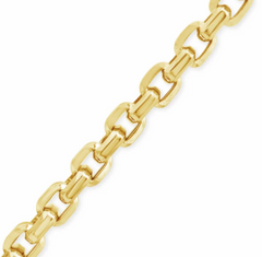 "10K YELLOW GOLD 5MM ROLO CABLE 22"" CHAIN"
