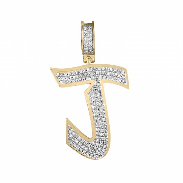 ".33ct Diamond Graffiti ""J"" initial"