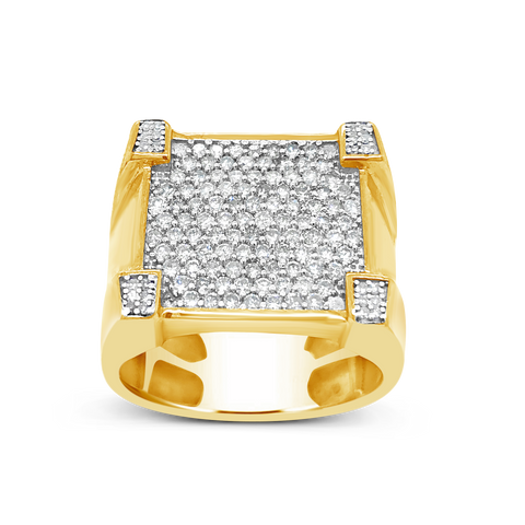 Diamond Ring 1.20 CTW Round Cut 10K Yellow Gold