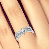 Diamond Engagement Ring .50 CTW Princess Cut w/ Round Cut 10K White Gold