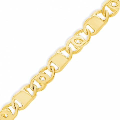 10K Yellow Gold  Tigers Eye Link Chain