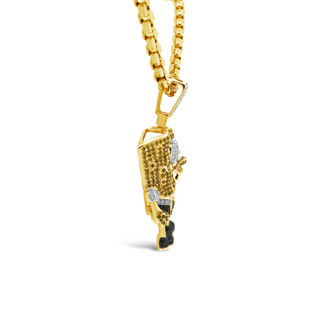 Diamond Pendant 1 CTW Round Cut 10K Yellow Gold