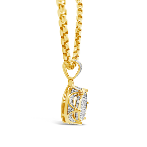 Diamond Pendant .65 CTW Round Cut 10K Yellow Gold