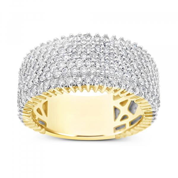 Diamond Ring 2.90 CTW Round Cut 10K Yellow Gold
