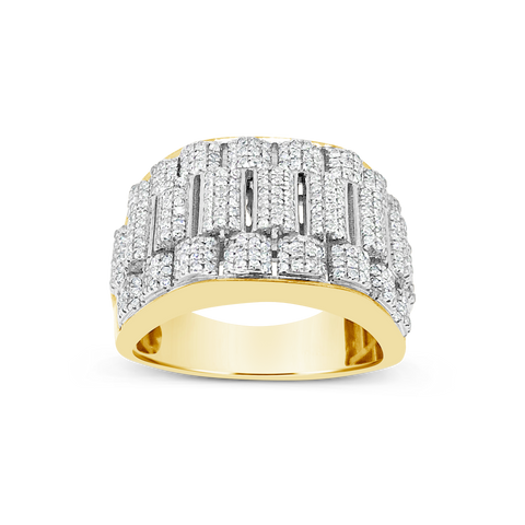 Diamond Ring .78 CTW Round Cut 10K Yellow Gold