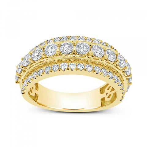 Diamond Ring 2.50CT tw Round Cut 10K Yellow Gold