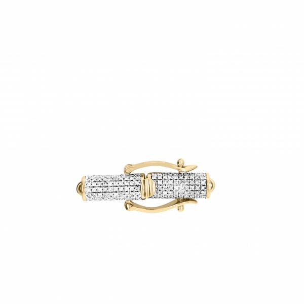 10k Yellow Gold .76ct Diamond Lock pendant