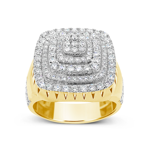 Diamond Ring 2CT tw Round Cut 10K Yellow Gold