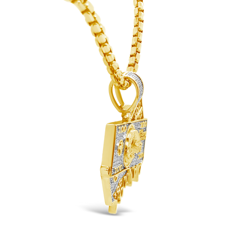 Diamond Pendant .67 CTW Round Cut 10K Yellow Gold