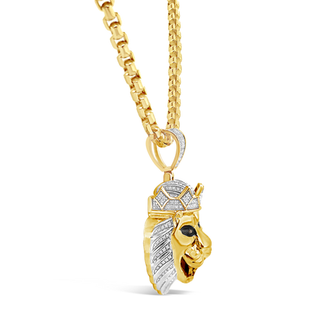 Diamond Pendant .55 CTW Round Cut 10K Yellow Gold