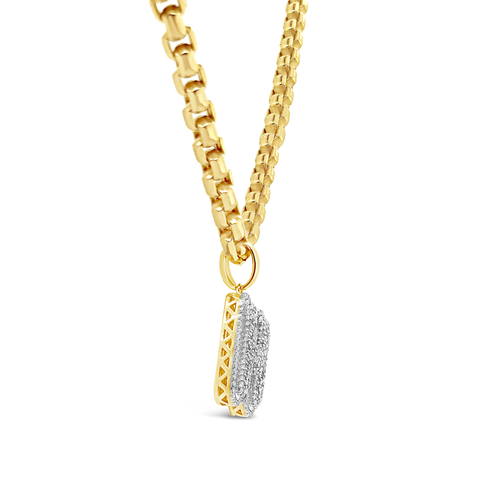 Diamond Custom Pendant .48 CTW Round Cut 10K Yellow Gold