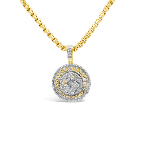 Diamond Custom Pendant .62 CTW Round Cut 10K Yellow Gold