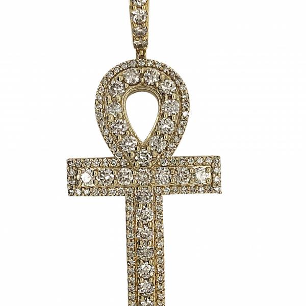 10k Yellow Gold 5.10ct Diamond Anch pendant