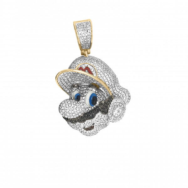 10k yellow gold .95ct Diamond Mario Pendant
