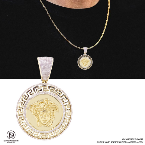 10K Yellow Gold Custom Pendent With 1.25CT Diamonds