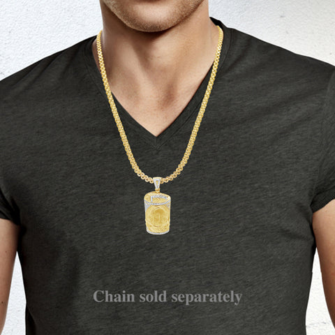 Diamond Money Pendant .40 CTW Round Cut 10K Yellow Gold