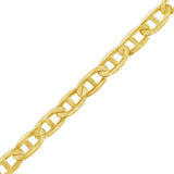 "10K Solid Yellow Gold Mariner Anchor Link 20"" Chain"
