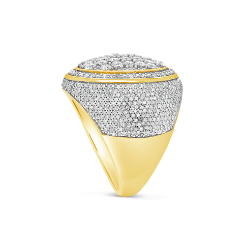 Diamond Ring 3.50 CTW Round Cut 10K Yellow Gold