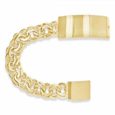 10k Yellow Gold Chino Link ID Bracelet