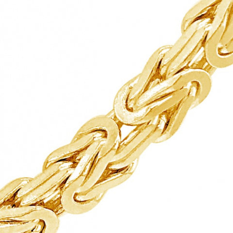 Solid 10K Yellow Gold 5 Byzantine Chain