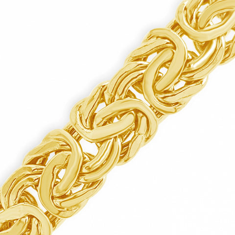 "10K Yellow Gold  Flat Link Byzantine 20"" Necklace"