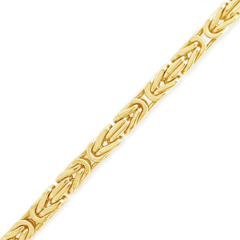 10K yellow Gold Semi Solid  Byzantine Chain