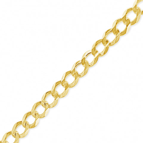 "10K Yellow Gold Solid  Cuban Link 16"" Chain"