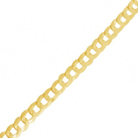 "10K Yellow Gold hollow Two Tone  Pave Cuban Link 18"" Chain"