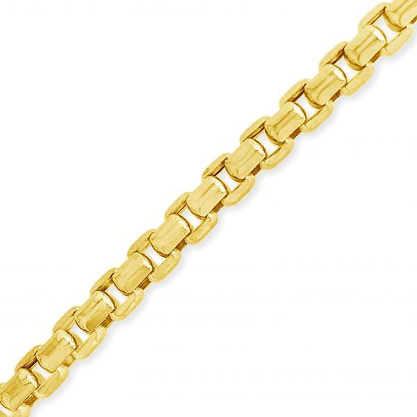 "10K Hollow Yellow Gold Puffed Rolo 22""Chain"