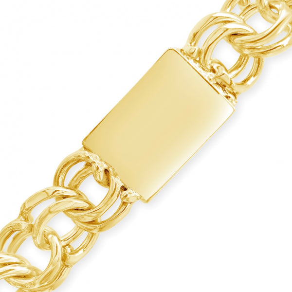 "10K Yellow Gold 18mm Chino Link 22"" Chain"