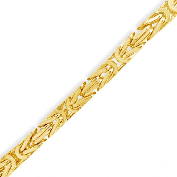 10K Solid Yellow Gold Byzantine Chain