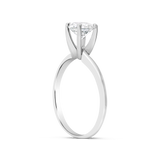 Diamond Engagement Ring .75 CTW Round Cut 14K White Gold