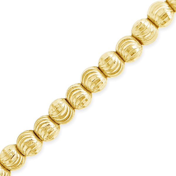 10K Solid Yellow Gold 4mm Moon Cut Chain