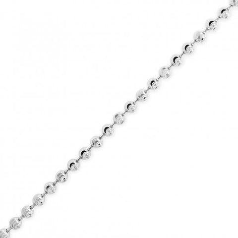 10K Solid Yellow Gold 3mm Moon Cut Chain