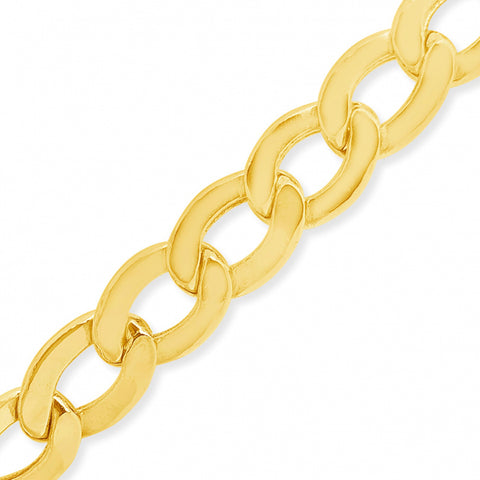 "10K Yellow Gold Hollow  Cuban Link 22"" Chain"