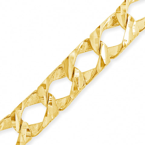10K Yellow Gold  Square Cuban Link w/ Lazor Cuts