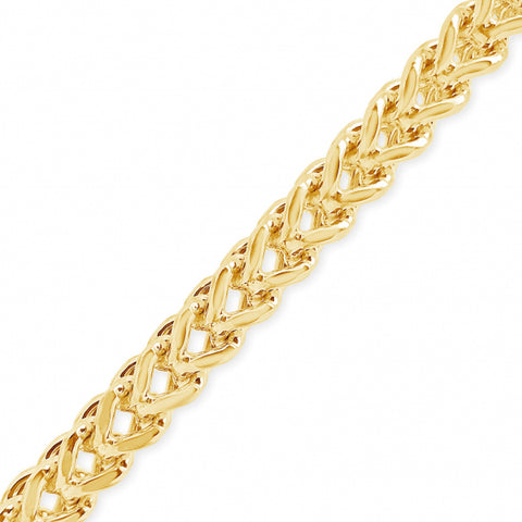 "10K Yellow Gold Semi Solid  Franco Link 20"" Chain"