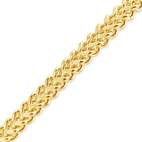 "10K Yellow Gold Semi Solid  Franco Link 22"" Chain"