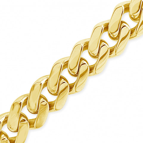 10K Yellow Gold Hollow  Miami Cuban Link Chain