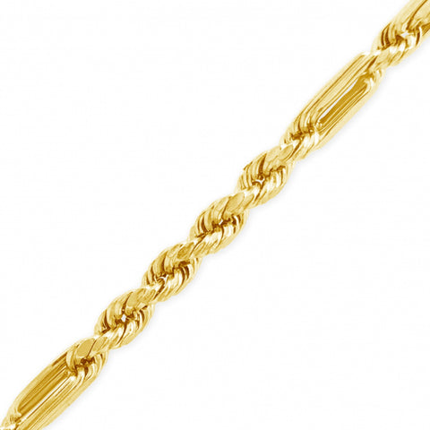 "10K Yellow Gold Hollow  Milano 22"" Chain w/ Diamond Cuts"