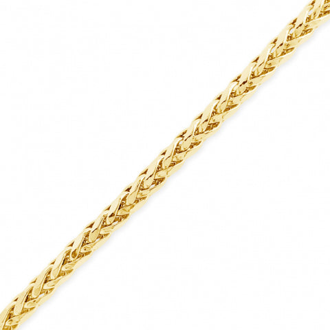 "10K Yellow Gold  Palm Wheat Link 22"" Chain"