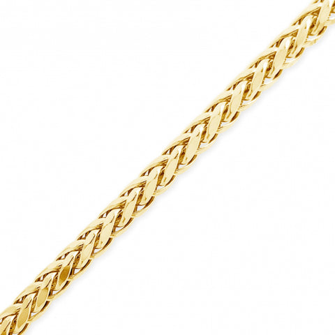 "10K Yellow Gold  Palm Wheat 22"" Link Chain"