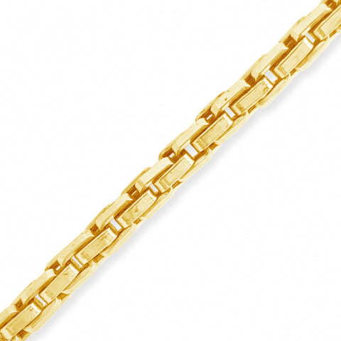 "10K Yellow Gold  Puffed Box Link 22"" Chain"