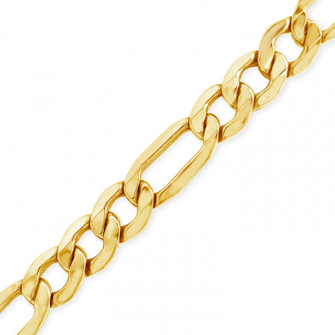 "10K Yellow Gold Hollow  Figaro Link 20"" Chain"