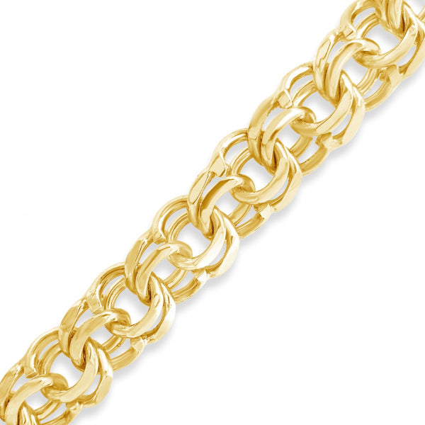 10K Solid Yellow Gold Chino Link Chain