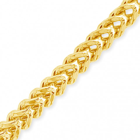 10K Semi Solid Yellow Gold Franco Chain