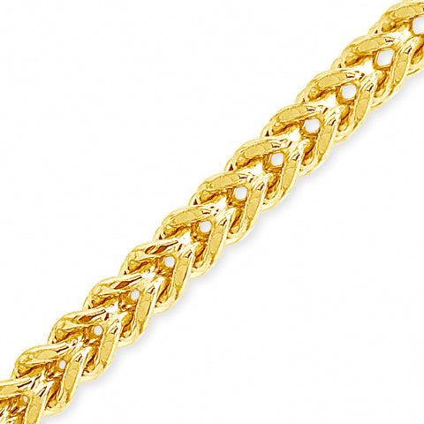 10K Yellow Gold Semi Solid  Franco Chain