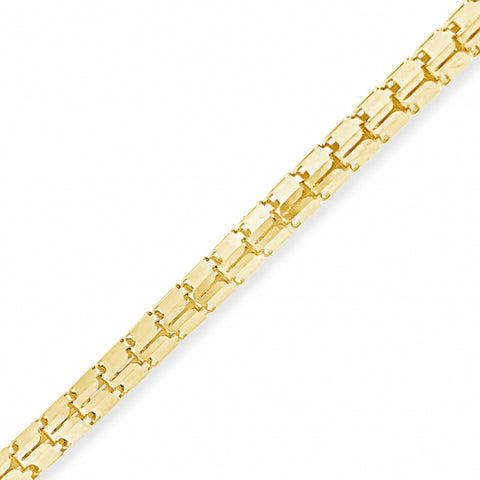 "10K Yellow Gold  Hollow Box 22"" Chain"
